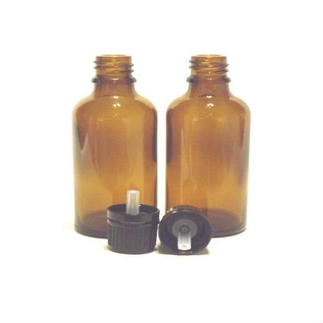 Flacon en verre ambré de 50 ml