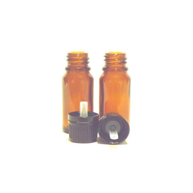 Flacon en verre ambré de 10 ml
