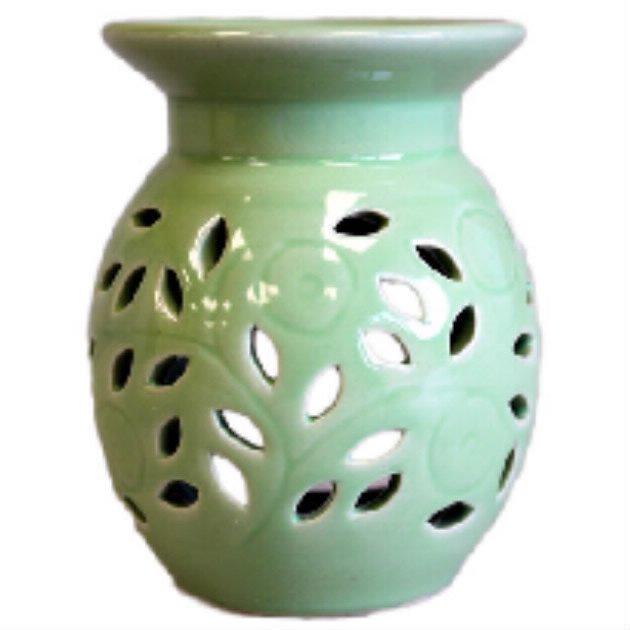 Brûleur à huile fleur vert